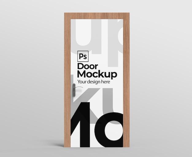 Макет двери для рекламы или брендинга