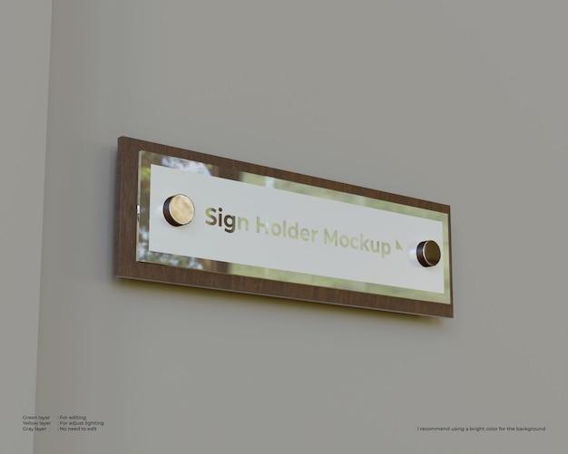 Door sign holders mockup