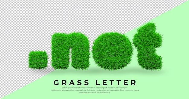 고립 된 3d 잔디에 도트 그물 편지