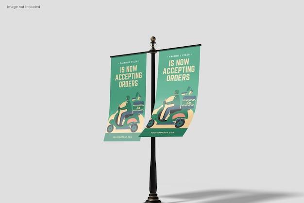 Double banner mockup