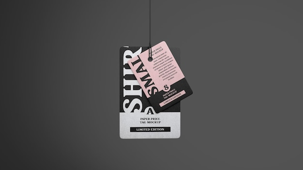 Double clothes tag mockup