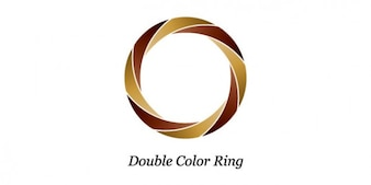ダブルカラーリングのロゴデザイン