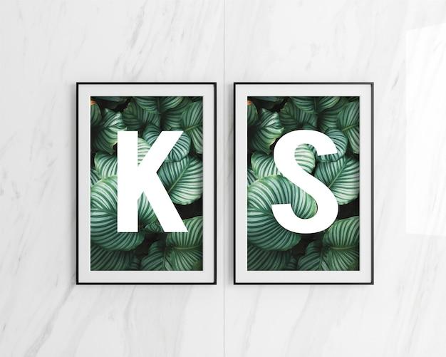 Double poster frame mockup