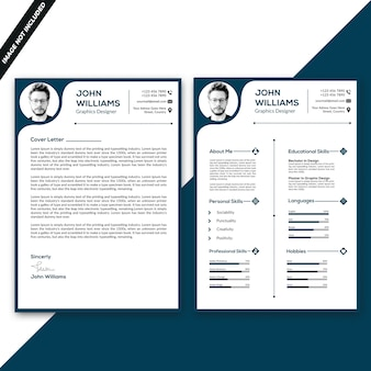 Double side resume