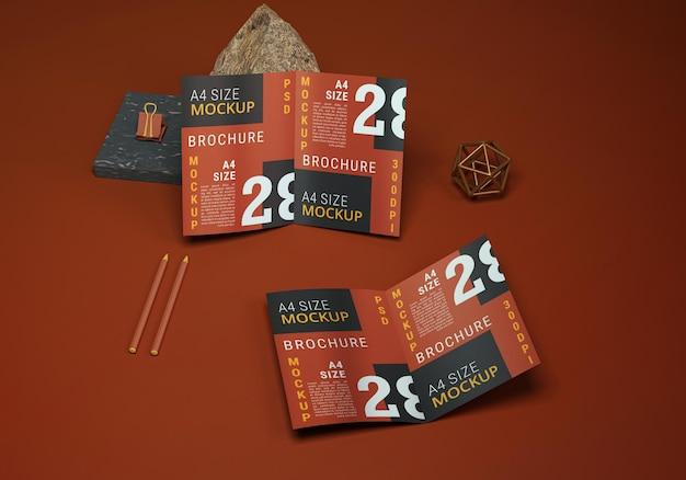 Двухсторонний макет брошюры
