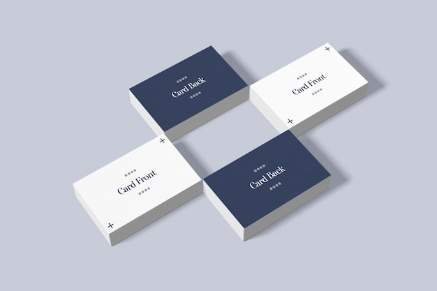 Double sided business card mockup