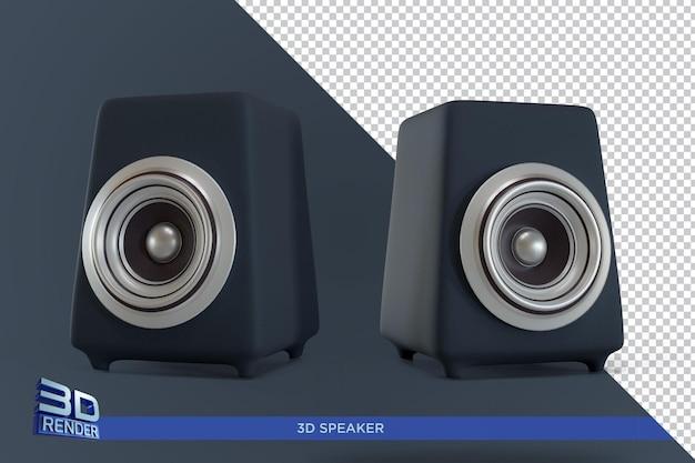 더블 스피커 상자 3d 렌더링 절연