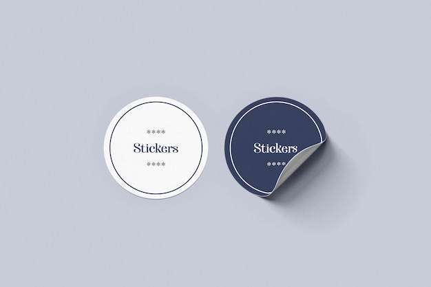 Double sticker mockup