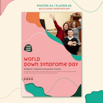 Design flyer giorno sindrome di down