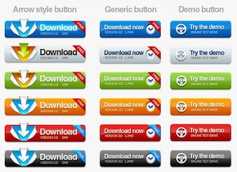Download and try demo rounded buttons for web design