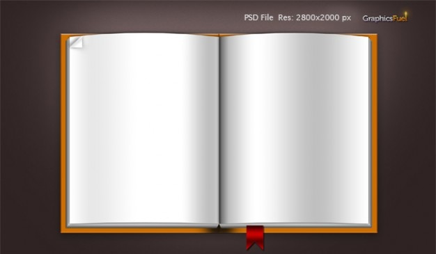 Download blank book template  psd file & icons