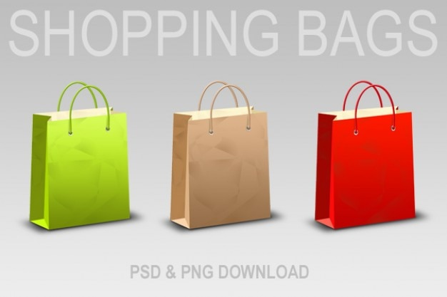 Download shopping bag & icons  psd & png