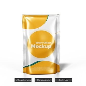 Doy-pack with zipper mockup