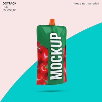 Doypack 호일 백 포장 목업 디자인