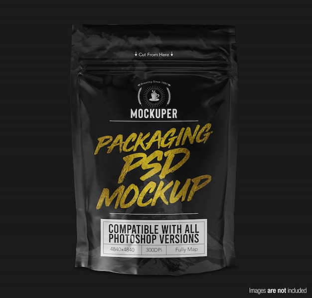 Doypack product packaging  mockup front view