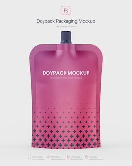トップスパウトモックアップを使用したdoypackパッケージ