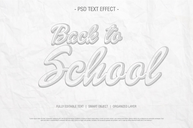 Drawing sketch back to school text effect esy editable