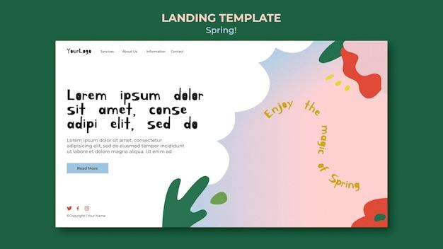 Нарисованный весенний веб-шаблон