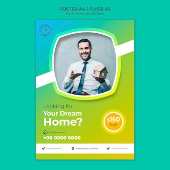 Dream home poster template