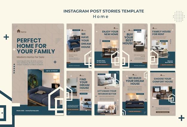 Dream house social media stories