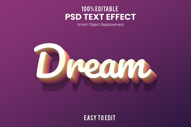 Текстовый эффект dream3d Premium Psd