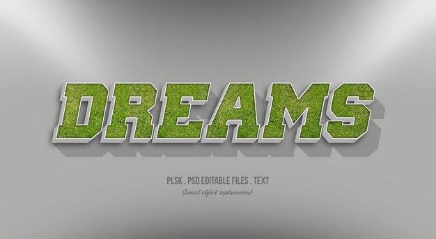 Dreams 3d эффект стиля текста