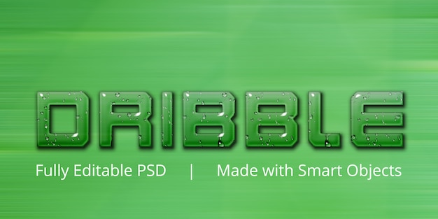 Dribble text style effect