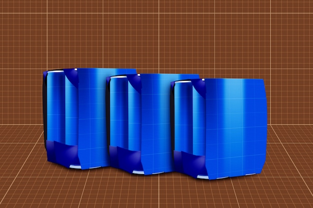 Drink can & 6 pack mockup