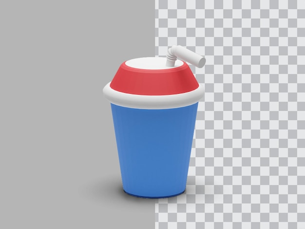 음료수 플라스틱 컵 투명 3d 렌더링