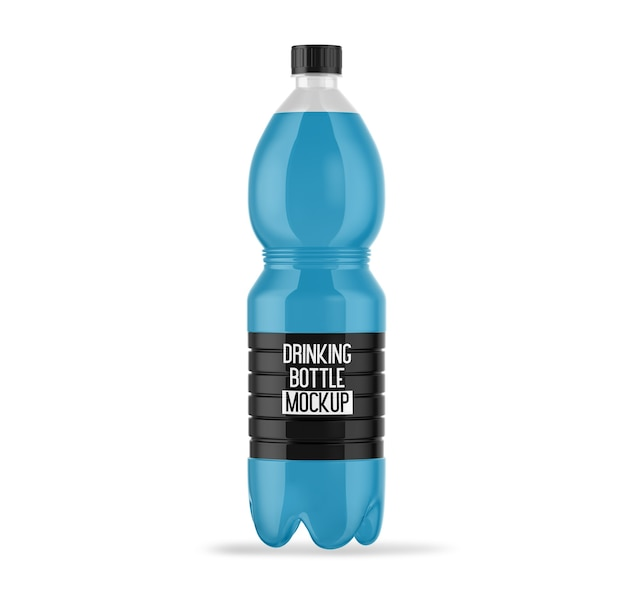 ビジネスのための飲用ボトルのモックアップ