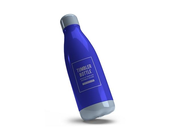 Drinking tumbler bottle mockup design