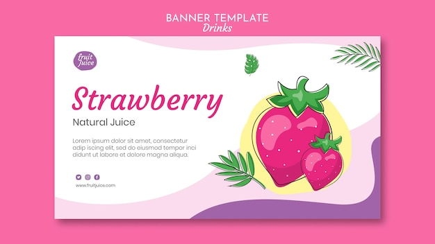 Drinks banner template