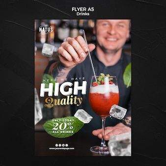 Drinks concept flyer template
