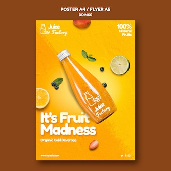 Drinks offer poster template