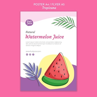Drinks poster template