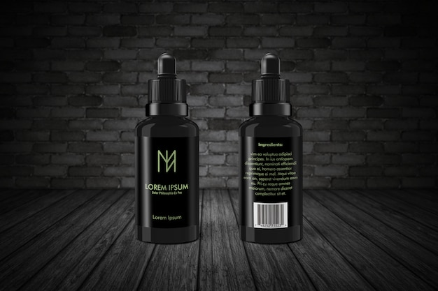 Dripper bottle mockup