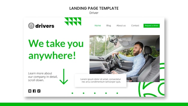 Driver landing page