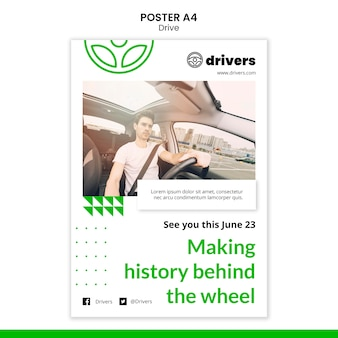 ドライバーポスターテンプレート