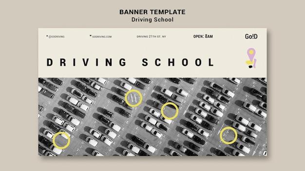 Driving school banner design template