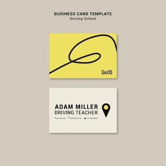 Driving school business card design template