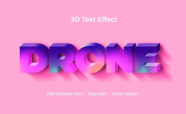 Шаблон макета 3d текста с дроном