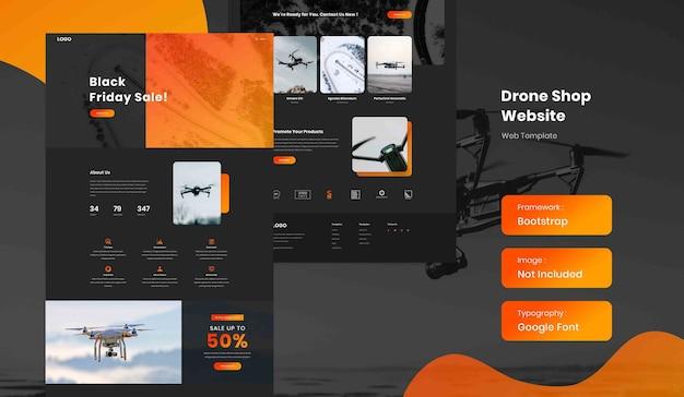 Drone online shop ecommerce landing page website template