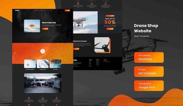 Шаблон целевой страницы интернет-магазина drone
