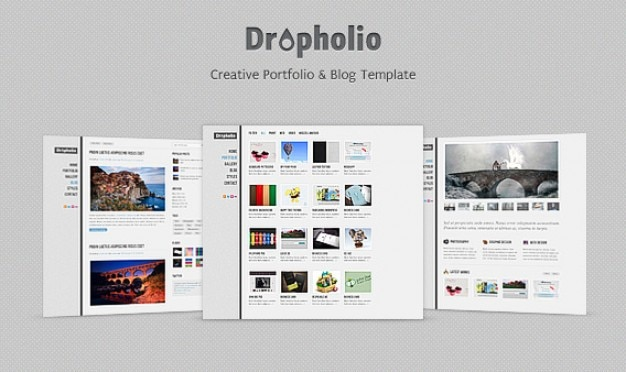 Dropholio  - ホームページpsd