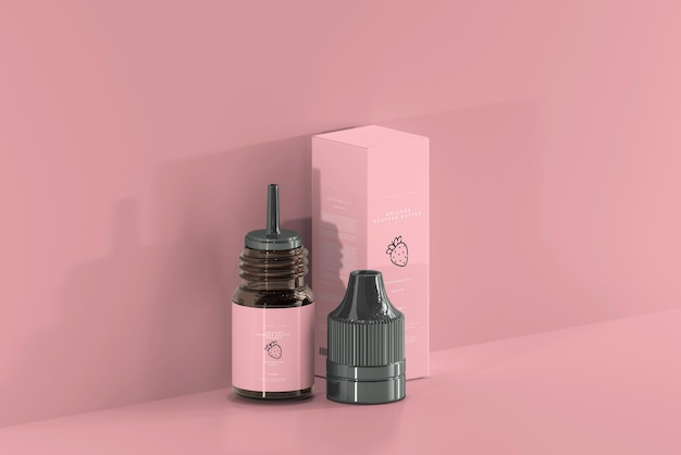 Бутылка-капельница и мокап коробки