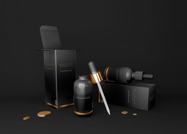Бутылка-капельница и макет упаковки