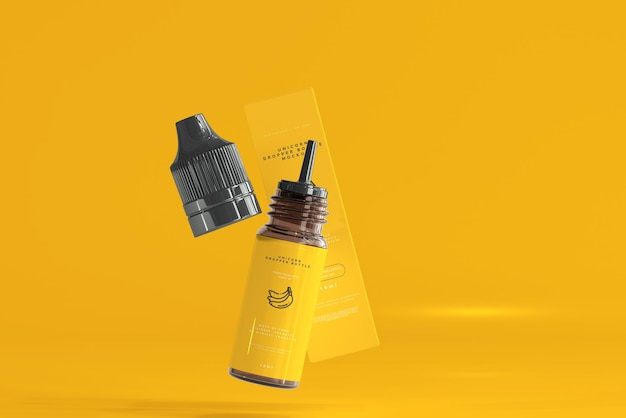 Dropper bottle and box mockup