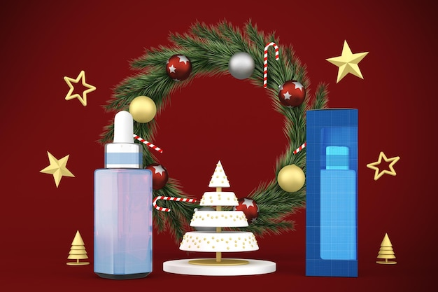 Dropper bottle christmas