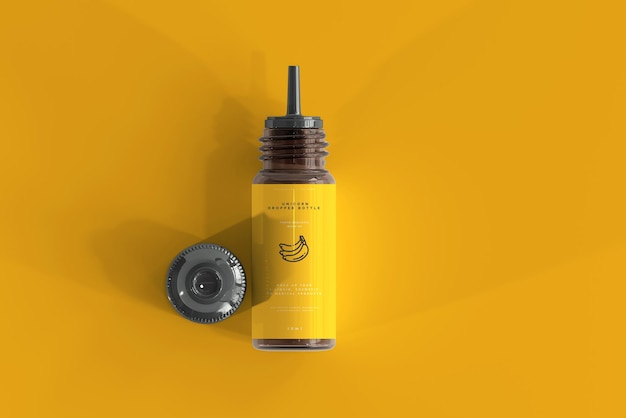 Bottiglia contagocce mockup