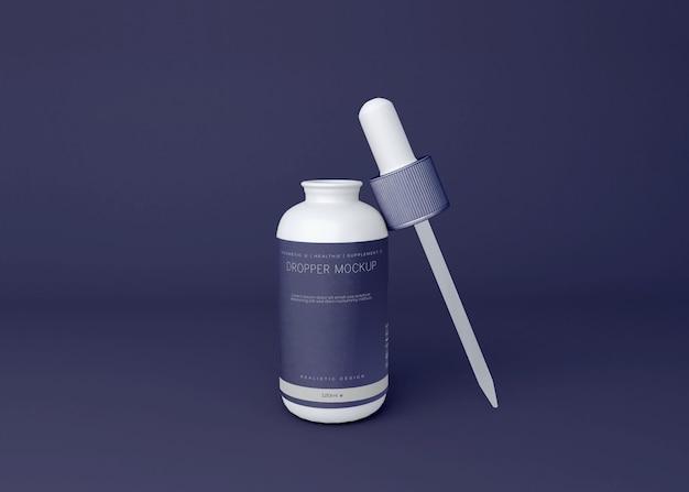 Мокап бутылки капельницы